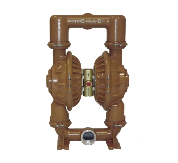 NTG 50 (51 mm) Metallic Rubber/TPE-Fitted Air Operated Double Diaphragm Pump